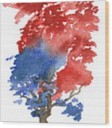 Little Zen Tree 292 Wood Print