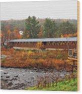 Littleton Nh Covered Bridge Wood Print