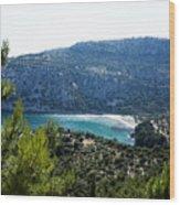 Livadi Beach On Thassos Island Wood Print