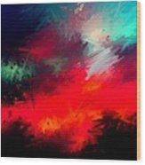 Splashing Colors Of What I Seen Wood Print