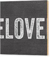 Live Love Bake Wood Print