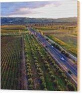 Livermore Wine Country--las Positas Winery Wood Print