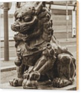 Liverpool Chinatown - Chinese Lion A Wood Print