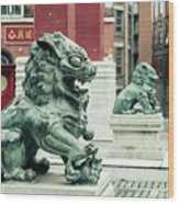 Liverpool Chinatown - Chinese Lion D Wood Print