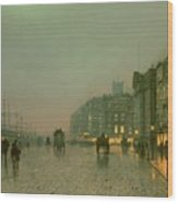 Liverpool Docks From Wapping Wood Print by John Atkinson Grimshaw
