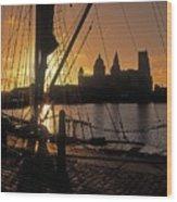 Liverpool, England View From Albert Dock Wood Print