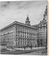 Liverpool Royal Liver And Cunard Buildings Wood Print