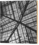 Liverpool Street Station Glass Ceiling Abstract Wood Print