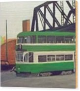 Liverpool Tram 1953 Wood Print