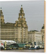 Liverpool Waterfront Wood Print