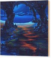 Living Among Shadows Wood Print