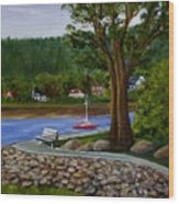 Living In Annapolis Royal Wood Print
