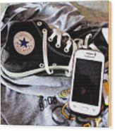 Living In Converse Resting Time  Wood Print