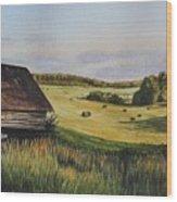 Living Land Wood Print