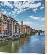 Living Next To The Arno River Wood Print