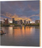Living On The Willamette River Wood Print