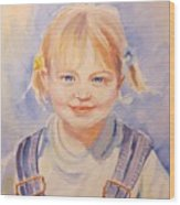 Liz At Three Wood Print