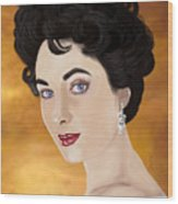 Liz Taylor Wood Print