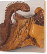 Lizard And Grasshopper Wood Print
