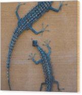Lizard Art Wood Print