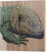 Lizard Art Work Wood Print