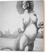 Lizard Girl Wood Print
