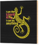 Lizard King Wood Print