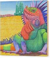 Lizard Of Oz Wood Print