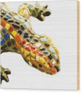 Lizard Souvenir By Antony Gaudi Wood Print