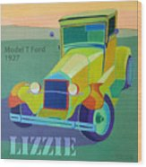 Lizzie Model T Wood Print by Evie Cook