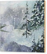 Lket It Snow - Let It Snow Wood Print
