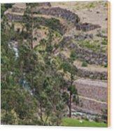 llactapata Site and Urubamba River Wood Print