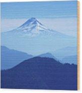 Llaima Volcano Chile Wood Print