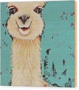 Llama Sid Wood Print