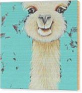 Llama Sue Wood Print