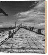 Llandudno Pier  Wood Print