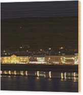Llandudno Promenade At Night. Wood Print