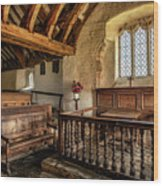 Llangelynnin Church Wood Print