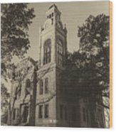 Llano County Courthouse - Vintage Wood Print