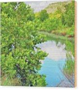 Llano River Scenic Wood Print