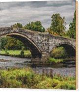 Llanrwst Bridge Panorama Wood Print