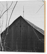 lloyd-shanks-barn-1BW Wood Print