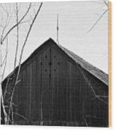 lloyd-shanks-barn-1BW Wood Print