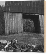 lloyd-shanks-barn-2BW Wood Print