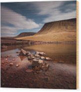 Llyn Y Fan Fach Black Mountain Wood Print