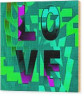 Lo Ve Wood Print