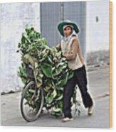 Loaded Bicycle Wood Print