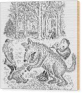 Loaner Dog Wood Print