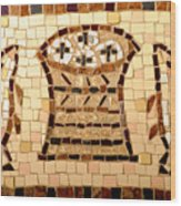 Loaves And Fishes Mosaic Wood Print