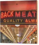 Loback Meat Co Neon Wood Print